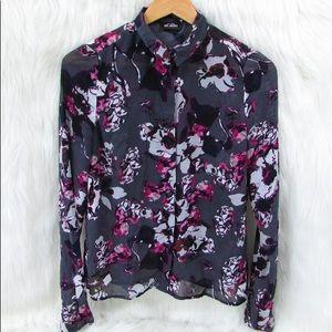 Karl Lagerfeld for Impulse Floral Blouse S